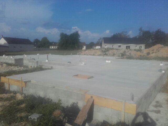 Vide sanitaire et dalle de béton terminé sur la commune d'Argent sur Sauldre